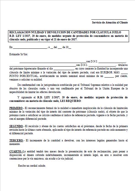 Reclamaciones clausula suelo plataforma stop clausula suelo for Decreto clausula suelo